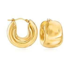 Ross Simons 14k Yellow Gold Wide Hoop Earrings